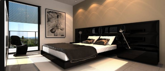 Sleeping room design of Futuristic Villa in Suriname